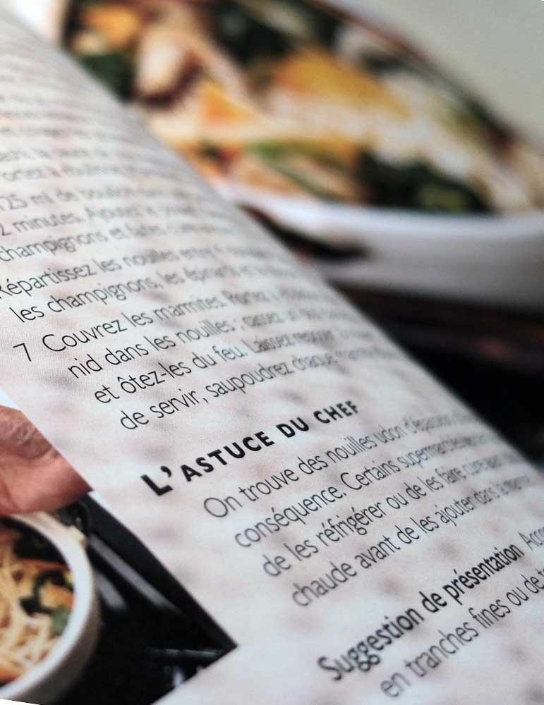 imprimerie livre de cuisine