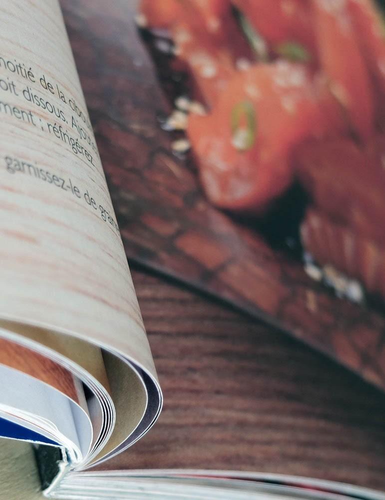impression livre de cuisine