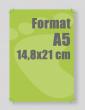Document relié A5 14,8x210 cm