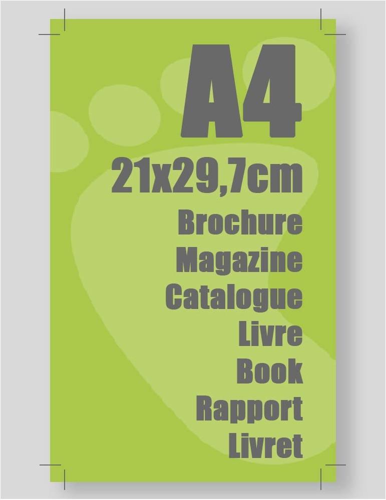 impression de brochure A4 fermé A3 ouvert