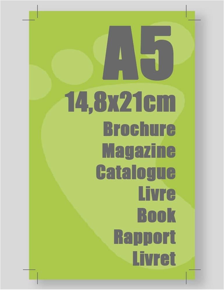 Imprimerie en ligne pour brochure et magazine format A5 fermé A4 ouvert