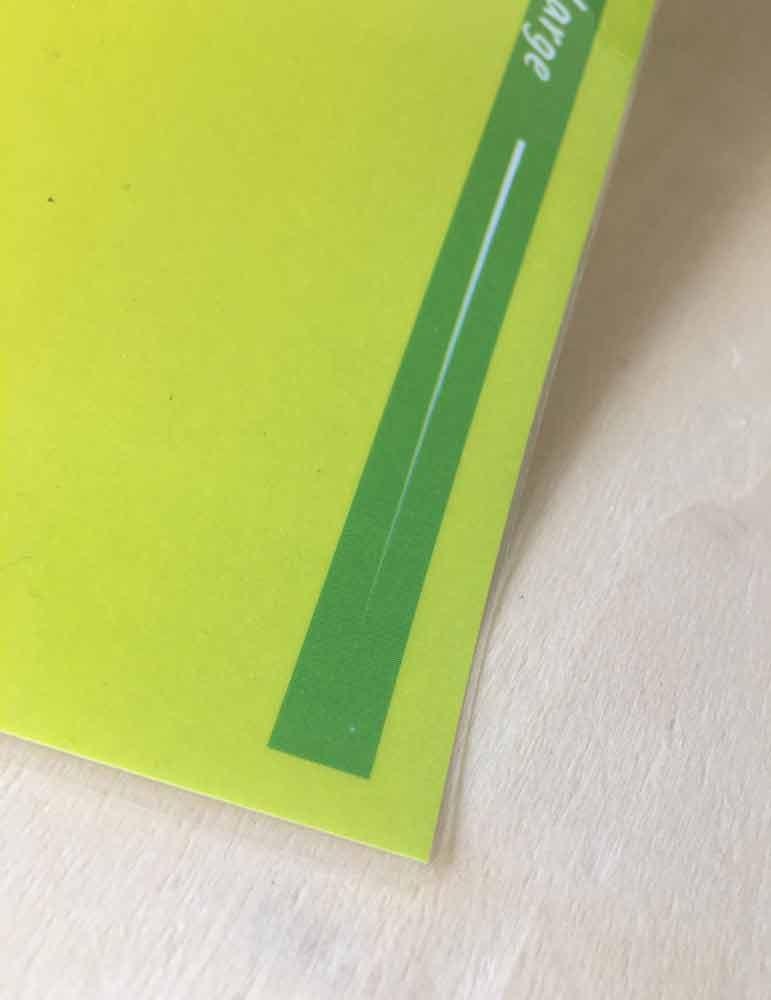 plastification menu brillant