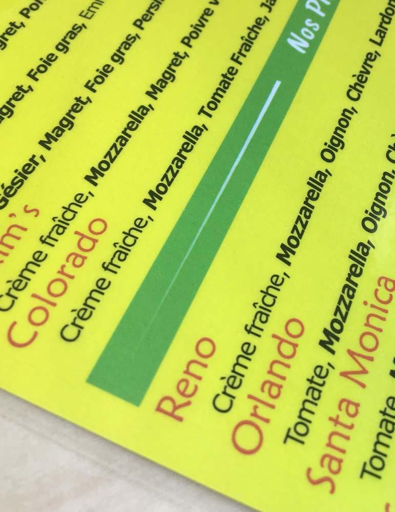 imprimeur plastification menu affiche doc photo