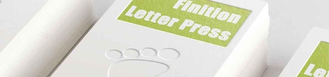 Imprimerie spécialisé finition carte de visite Letter Press