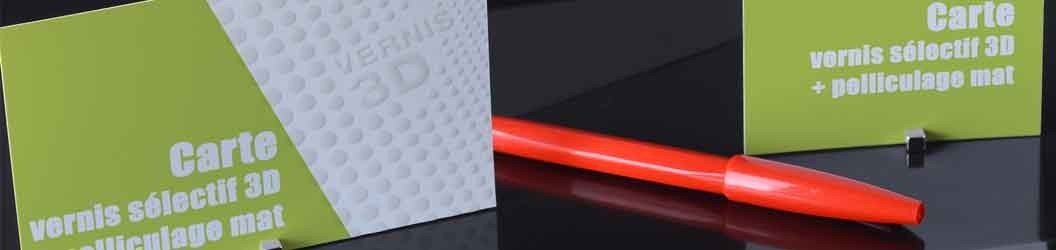 pelliculage mat Soft Touch + vernis sélectif